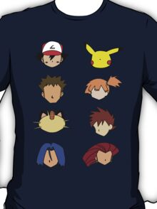 Simple Pokemon Main Characters T-Shirt