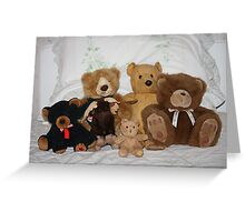 Five Teddies and a Moose Greeting Card