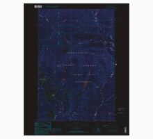 USGS Topo Map Washington State WA Noble Knob 242842 1989 24000 Inverted One Piece - Long Sleeve