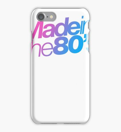 Made in the 80s - Helvetica iPhone Case/Skin