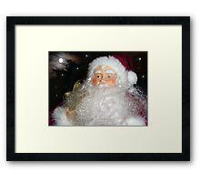 Santa's on His Way Framed Print