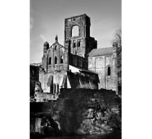Kirkstall Abbey in Mono Photographic Print