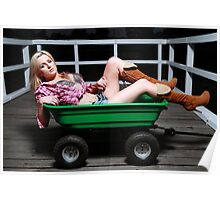 Do you want a ride in my cart? Poster