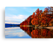 Lake at Fall Canvas Print