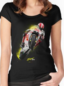 Marco Simoncelli 1987-2011 Women's Fitted Scoop T-Shirt