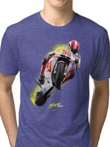 Marco Simoncelli 1987-2011 Tri-blend T-Shirt