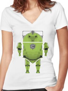 Cyberdroid Women's Fitted V-Neck T-Shirt