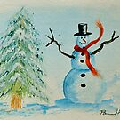 Happy Snowman by Pamela Hubbard