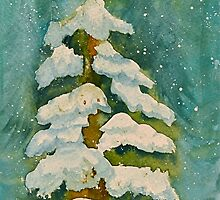 Snow Covered Tree by Pamela Hubbard