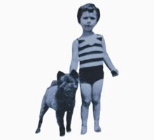 Child And Dog by Michael  Webb
