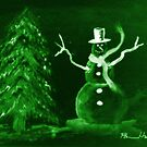 Green Snowman by Pamela Hubbard