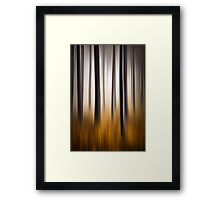 Forest Essence - Autumn Landscape Vertical Panning Framed Print