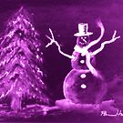 Purple Snowman by Pamela Hubbard