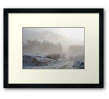Morning fog and light Framed Print