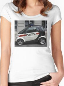 Smart Police Car Women's Fitted Scoop T-Shirt