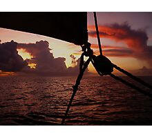 Sunsail in St. Lucia Photographic Print