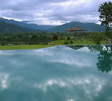 Reflecting pool, Pokhara hotel by teresalynwillis