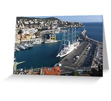 The harbor of Nice Greeting Card