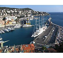 The harbor of Nice Photographic Print
