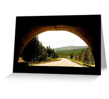 COUNTRY ROAD..MONTANA Greeting Card