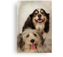 Lola and Bailey Canvas Print