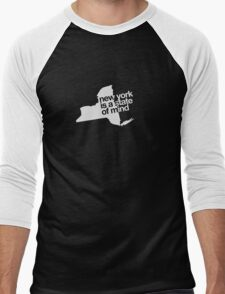New York is a state of mind - Small white Men's Baseball ¾ T-Shirt