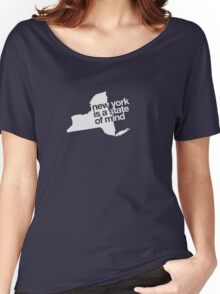 New York is a state of mind - Small white Women's Relaxed Fit T-Shirt