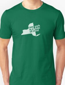 New York is a state of mind - Small white Unisex T-Shirt