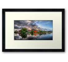 Suburban Sunrise Panorama Framed Print