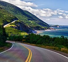 Riding the Cabot trail by Kathy Weaver