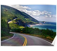 Riding the Cabot trail Poster