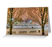Boston New Year Skate Greeting Card