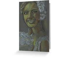 The Young Bride Greeting Card