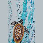 Aboriginal Sea Turtle iPhone Case by Ron Hannah
