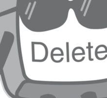 Delete Button Sticker