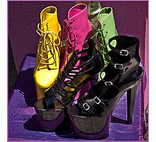Fashionista footwear Photographic Print