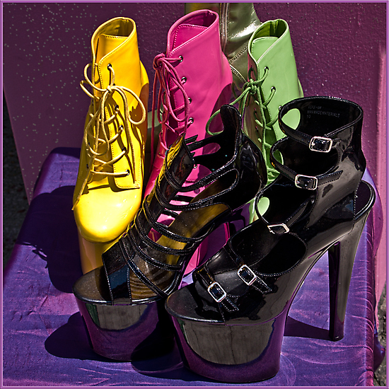 Fashionista footwear by Celeste Mookherjee