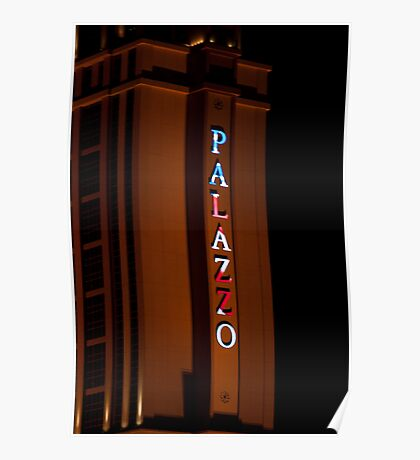 Palazzo Hotel and Casino on Veterans Day 2011, Tall Shot Poster
