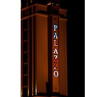 Palazzo Hotel and Casino on Veterans Day 2011, Tall Shot Photographic Print