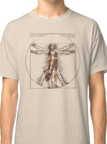 Da Vinci Meets the Doctor (for Light Tshirts) Classic T-Shirt