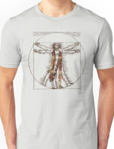 Da Vinci Meets the Doctor (for Light Tshirts) Unisex T-Shirt