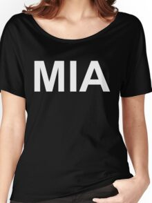 MIA (Missing in Action)  (Reversed Colours) Women's Relaxed Fit T-Shirt