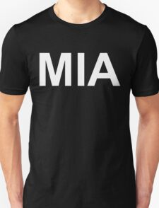 MIA (Missing in Action)  (Reversed Colours) T-Shirt