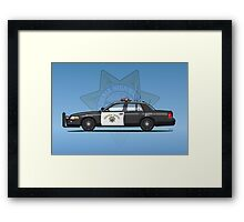 California Highway Patrol Ford Crown Victoria Police Interceptor Framed Print