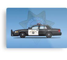 California Highway Patrol Ford Crown Victoria Police Interceptor Metal Print