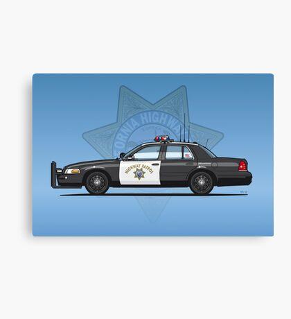 California Highway Patrol Ford Crown Victoria Police Interceptor Canvas Print