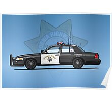California Highway Patrol Ford Crown Victoria Police Interceptor Poster
