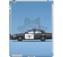 California Highway Patrol Ford Crown Victoria Police Interceptor iPad Case/Skin