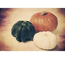 3 Pumpkins Photographic Print