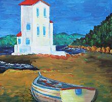 Oil Painting - Santa Flavia, Sicily 2011 by Igor Pozdnyakov